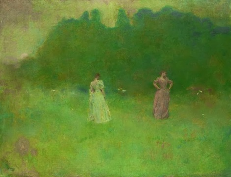 Thomas Wilmer Dewing + After Sunset + 1892 +Freer Gallery