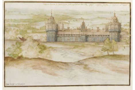 Nonsuch Palace... by Joris Hoefnagel, 1572