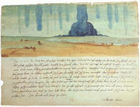 Albrecht Dürer, Dream Vision. 9 June 1525. Watercolour on paper