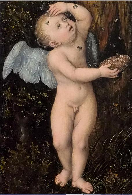 cranach elder cupid honey
