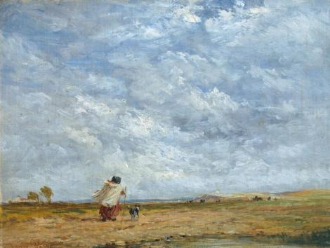 A Windy Day 1850 by David Cox 1783-1859