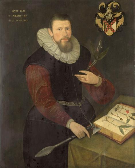 Portrait-of-a-botanist-1603 Anonymous