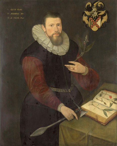 Portrait-of-a-botanist-1603 Anonymous
